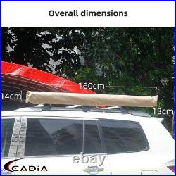 1.5x2m Camping Car Roof Rack Cover Tent Side Awning Sun Shade Shelter Universal