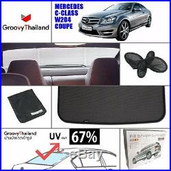 1 Pc Back Rear Windscreen Foldable Car Sun Shade Fit Benz C Class W204 Coupe
