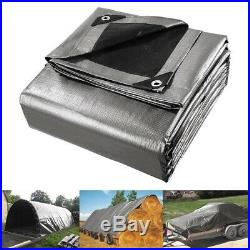 10mil Heavy Duty Poly Tarp Canopy 40x50 Reinforced Tent Car Boat Cover Sun Shade