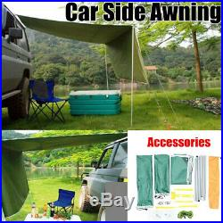 2.81.8M Car Side Awning Rooftop Sun Shade SUV Outdoor Camping Travel