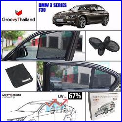 2 Pcs Front Car Sun Shade Assembly Fit Bmw 3 Series F30 Embedded Magnet