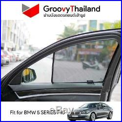 2 Pcs Front Foldable Curtain Car Sun Shade Fit For Bmw 5 Series F10 Press Fit