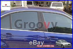 2 Pcs Front Foldable Mesh Curtain Car Sun Shade Assembly Fit Bmw 3 Series E46