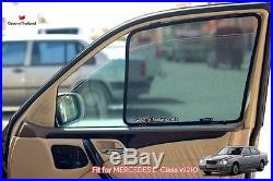 2 Pcs Front Foldable Mesh Curtain Car Sun Shade Assembly For Benz E Class W210