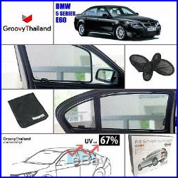 2 Pcs Front Foldable Mesh Curtain Car Sun Shade Set Fit For Bmw 5 Series E60