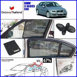 2 Pcs Rear Foldable Curtain Car Sun Shade Fit Bmw 3 Series E90 (ems To Us)