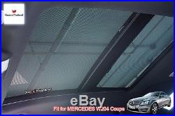 2 Pcs Sunroof Foldable Mesh Curtain Car Sun Shade Fit Benz C Class W204 Coupe