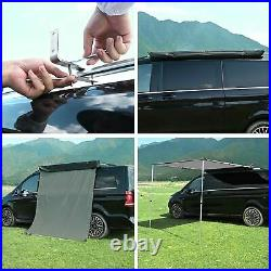4.6x6.6' Car Side Awning Rooftop Tent Sun Shade SUV Outdoor Camping Travel Grey