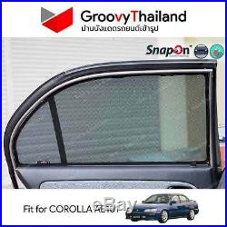 4 Pcs Fit Toyota Corolla Ae101 Car Sun Shade Embedded Magnet
