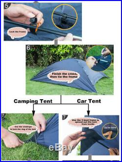 7x10 ft Car Tent Awning Rooftop Tent Sun Shade SUV Camping Travel