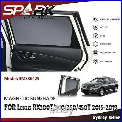 Ad Magnetic Car Window Sun Shade Blind Mesh For Lexus Rx350 Rx450h 2015-2019