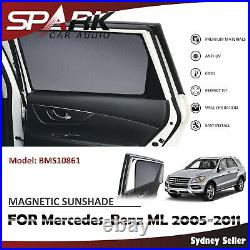 Ad Magnetic Car Window Sun Shade Blind Mesh For Mercedes Benz ML W164 2005-2011