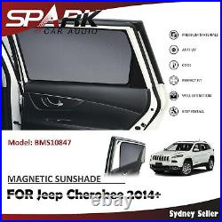 Ad Magnetic Car Window Sun Shade Blind Mesh Rear Door For Jeep Cherokee 2014+