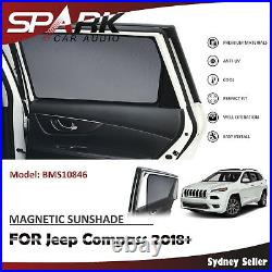 Ad Magnetic Car Window Sun Shade Blind Mesh Rear Door For Jeep Compass 2018+