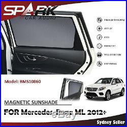 Ad Magnetic Car Window Sun Shade Blind Mesh Rear Door For Mercedes Benz ML 2012+