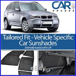 BMW X3 5dr 2003-2010 UV CAR SHADES WINDOW SUN BLINDS PRIVACY GLASS TINT BLACK