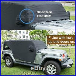 Cab Cover for 18-2019 Jeep Wrangler JL Sun Shade Car Covers Door & Hard top off