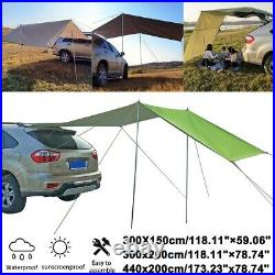 Camping Car Tent Awning Shelter SUV Canopy Outdoor Sun Sunshade Rooftop Portable
