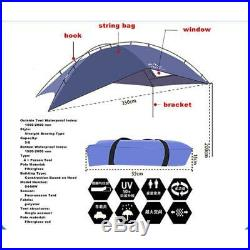 Car Canopy Waterproof Tent For Outdoor Camping Portable Sun Shade Durable Cover
