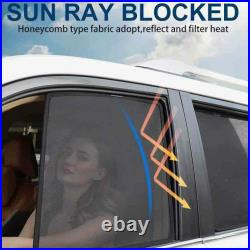 Car Side Windows Magnetic Sun Shade UV Ray Blocking Mesh Fit For Jeep Renegade