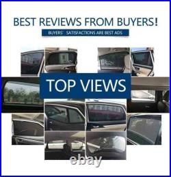 Car Side Windows Magnetic Sun Shade UV Ray Blocking Mesh Fit For Jeep Wrangler