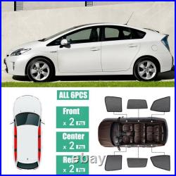 Car Side Windows Magnetic Sun Shade UV Ray Blocking Mesh Fit For Toyota Prius