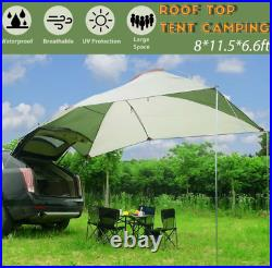 Car Tent Awning Rooftop Tent Shelter Outdoor Sunshade Travel Canopy SUV