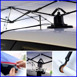 Car Umbrella Tent Fully automatic/Semi-automatic Sun Shade Cover Navy/Silver