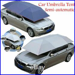 Car Umbrella Tent Semi-automatic Sun Shade Cover Navy/Silver Protection Cover US