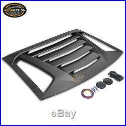 Fits 11-20 Dodge Charger Ikon V2 Rear Window Scoop Louver Sun Shade Cover ABS
