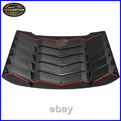 Fits 16-19 Chevy Cruze Sedan Rear Window Louver Cover ABS