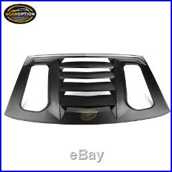 Fits 16-20 Chevy Camaro IKON V2 Style Window Scoop Louver Sun Shade Cover ABS