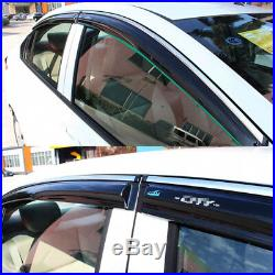 For Toyota Camry 2006-2011 Car Chrome Trim Window Visor Vent Shade Sun Guard