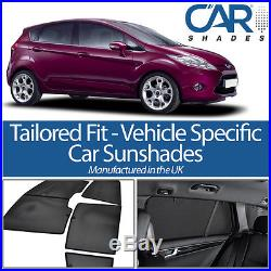 Ford Fiesta 5dr 08 On UV CAR SHADES WINDOW SUN BLINDS PRIVACY GLASS TINT BLACK