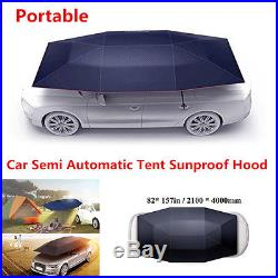 High Quality Portable Semi-automatic Outdoor Car Tent Umbrella Sun Shade Cover