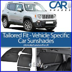Jeep Renegade 5dr 15 UV CAR SHADES WINDOW SUN BLINDS PRIVACY GLASS TINT BLACK