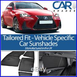 Lexus IS 4dr 2012 On UV CAR SHADES WINDOW SUN BLINDS PRIVACY GLASS TINT BLACK