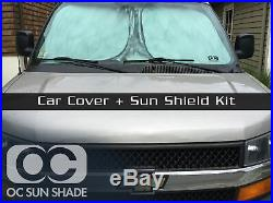 MCarcovers Fit Car Cover + Sun Shade for 86-91 Mercedes-Benz 560SEC MBSF 214297