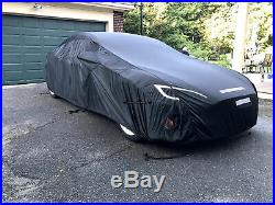 MCarcovers Fleece Car Cover + Sun Shade for 12-18 Tesla Model S MBFL R-13TESLAS