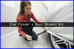 Mcarcovers Fit Car Cover + Sun Shade for 2010-2018 Lexus GX460 MBSF-O-0204
