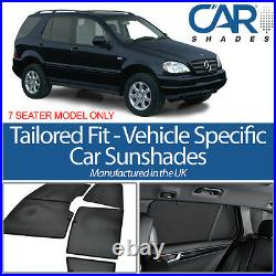 Mercedes ML 5dr 98-05 UV CAR SHADES WINDOW SUN BLINDS PRIVACY GLASS TINT BLACK