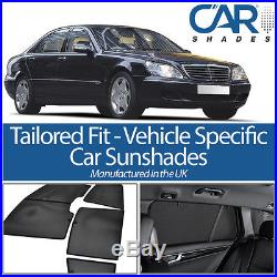 Mercedes S Class 4dr 00-06 SWB UV CAR SHADES WINDOW SUN BLINDS PRIVACY GLASS