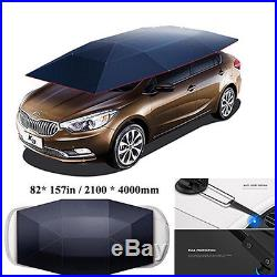 New Semi-auto Cool SUV Car Cover Roof Sunshade Parasol Easy to Mount with Fittings