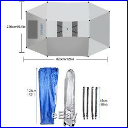 Outdoor For Car Tent Umbrella Full Sun Shade Roof Cover Waterproof UV Protection