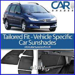 Peugeot 206 Estate 98-06 UV CAR SHADES WINDOW SUN BLINDS PRIVACY GLASS TINT