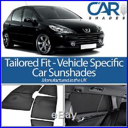 Peugeot 307 5dr 03-08 UV CAR SHADES WINDOW SUN BLINDS PRIVACY GLASS TINT BLACK