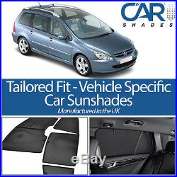 Car Window Sun Blinds Privacy UV Shades Peugeot 307 SW 2003 to 2008