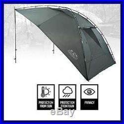 Portable Awning/Canopy/Sun Shade W Privacy Wall For Car/SUV/Camping/Beach/Etc