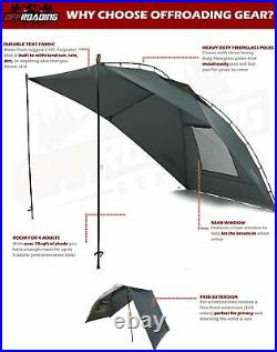 Portable Awning/Canopy/Sun Shade with Privacy Wall for Car/SUV/Camping/Be. New