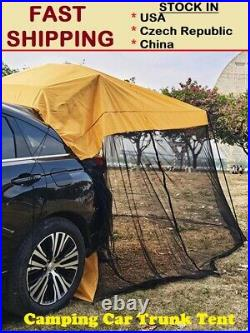 Portable Camping Car Trunk Tent Rear Extension Sunshade Canopy Camping Tourist